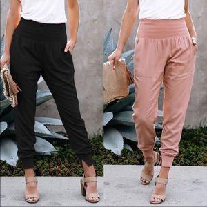 Pants - Comfy Chic Sassy Pocketed Joggers/Pants